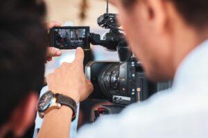 Kameramann am Set